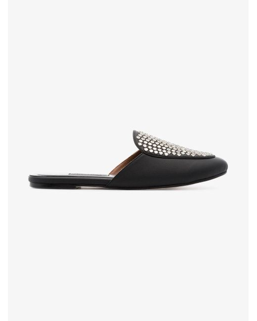 Newbark black Liza studded leather loafers outlet cost yRWUat9ZsA