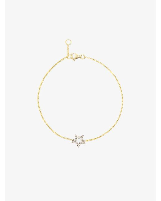 Rosa De La Cruz - Metallic Diamond Star Bracelet - Lyst