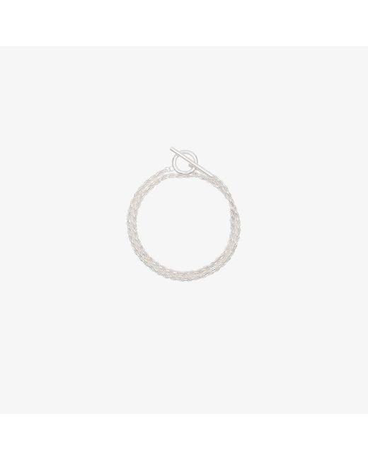 All_blues Metallic Rope Polished Sterling Silver Bracelet