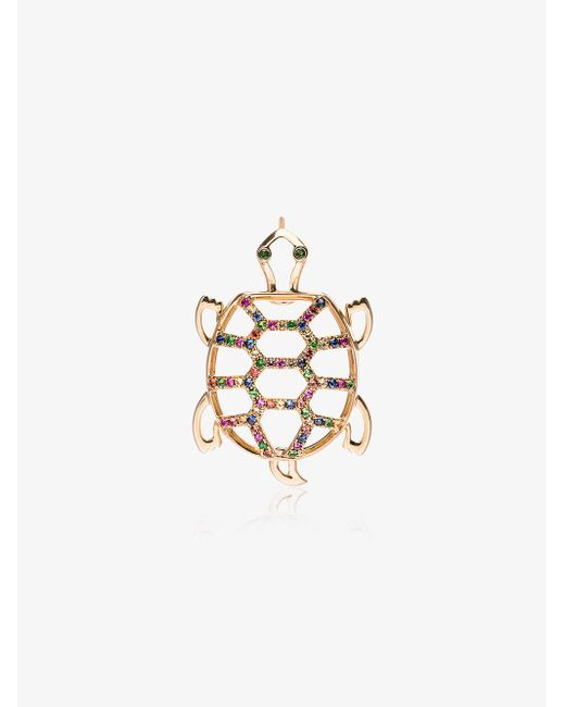 Yvonne Léon - Metallic Gold Tortoise Diamond Earring - Lyst