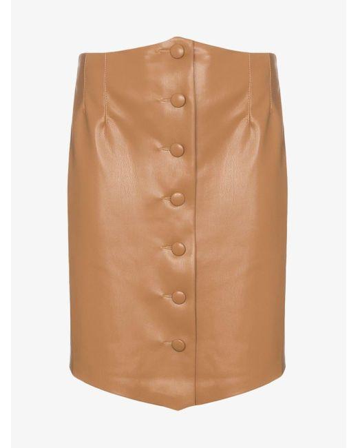 Nanushka Brown Sils Buttoned Mini-skirt