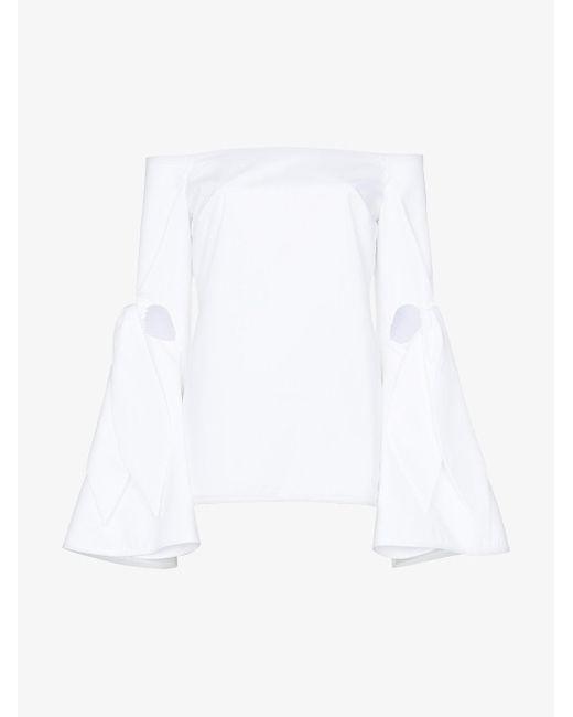 Ellery - White Lopez Off-the-shoulder-top - Lyst