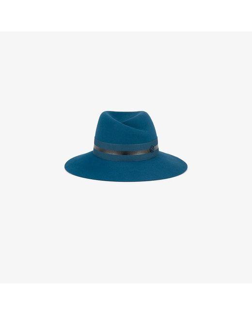 Maison Michel - Blue Virginie Rabbit Felt Fedora Hat - Lyst