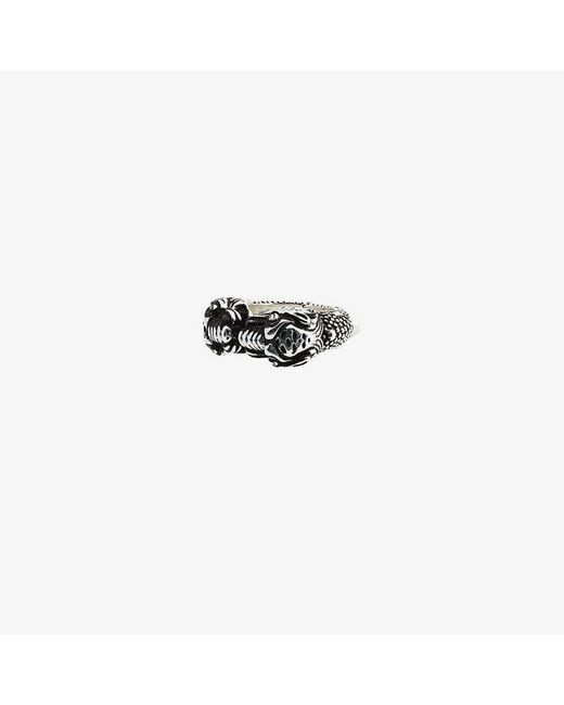 Gucci - Metallic Tiger Heads Ring for Men - Lyst