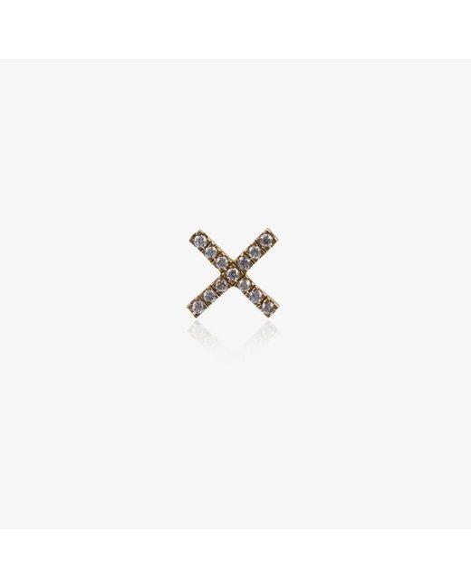 Loquet London Womens Metallic 18k Yellow Gold Diamond Kiss Charm