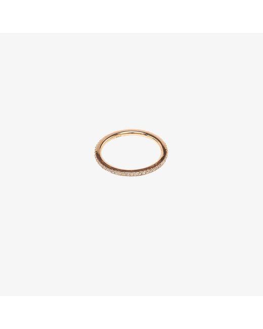 Rosa De La Cruz | Metallic Rose Gold Diamond Midi Ring | Lyst