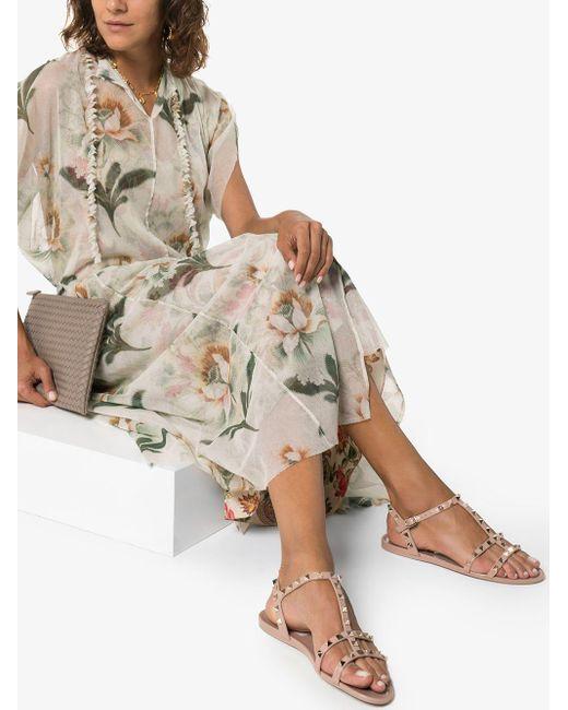 Valentino Natural Womens Neutrals Beige Garavani Rockstud Jelly Sandals