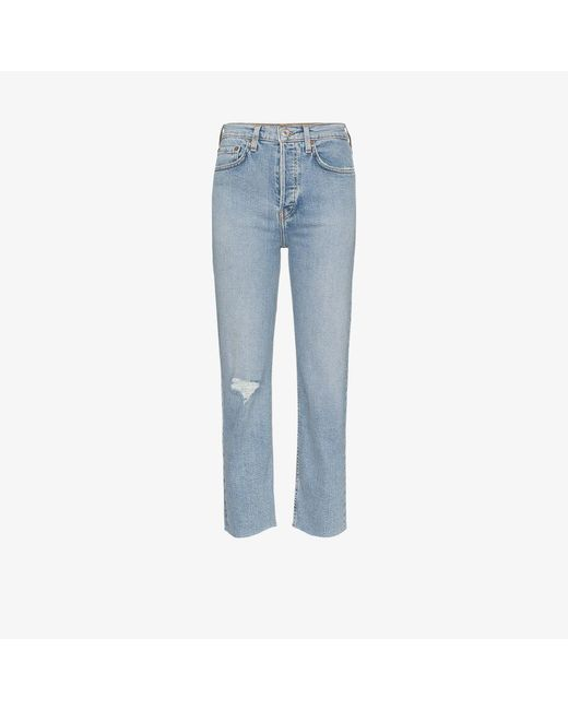 Re/done Blue Stove Pipe Jeans