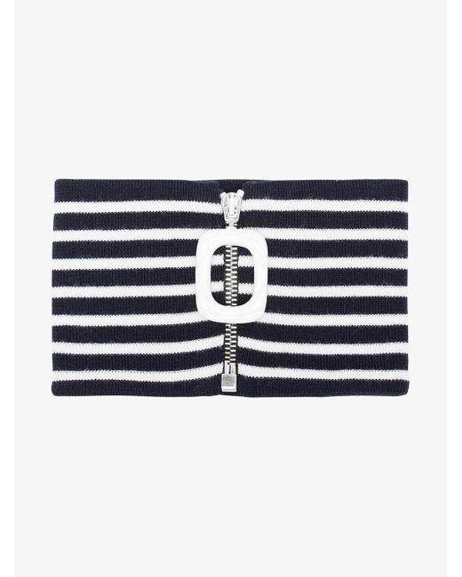 J.W. Anderson | Blue Striped Mock Turtleneck Collar for Men | Lyst