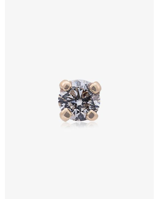 Yvonne Léon - Metallic Yellow Gold Diamond Stud Single Earring - Lyst