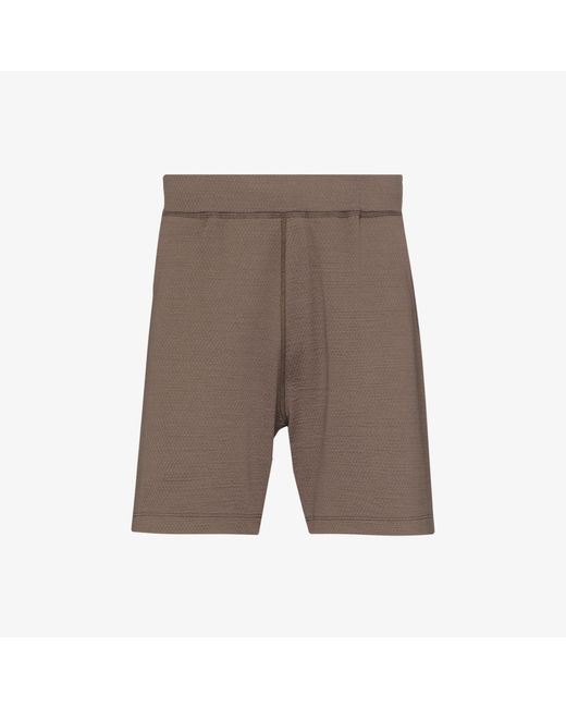 Reigning Champ Brown Trail Solotex Mesh Track Shorts for men