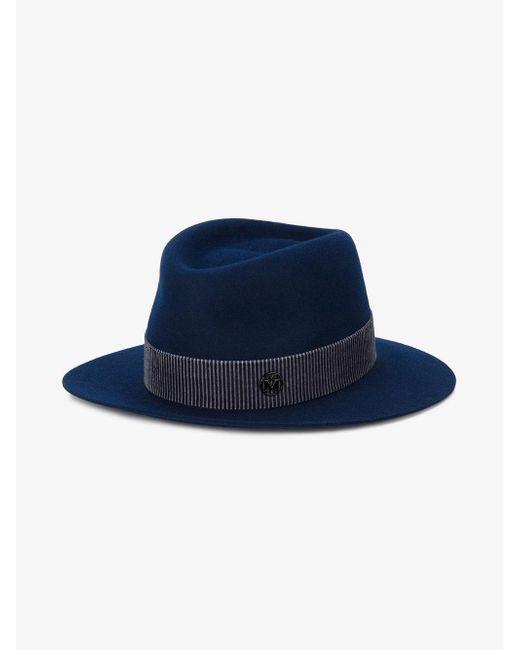 e723749ad2b ... Maison Michel - Blue André Trilby Hat for Men - Lyst ...