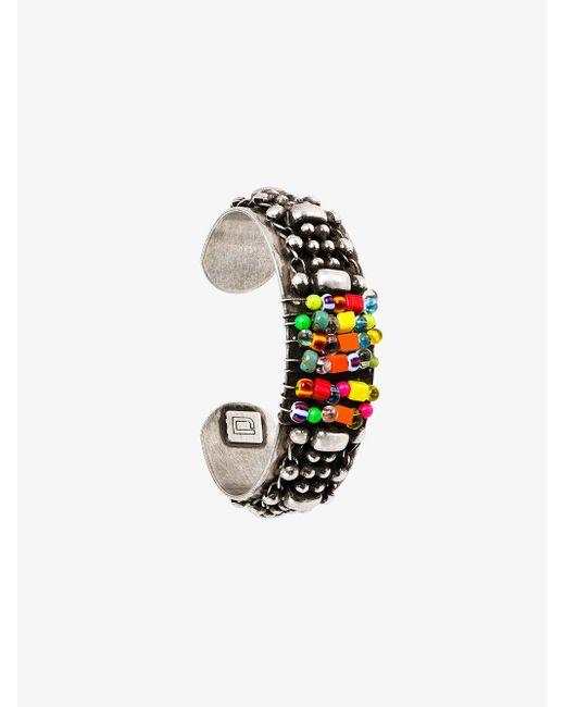 DANNIJO - Metallic Beaded Cuff Bracelet for Men - Lyst