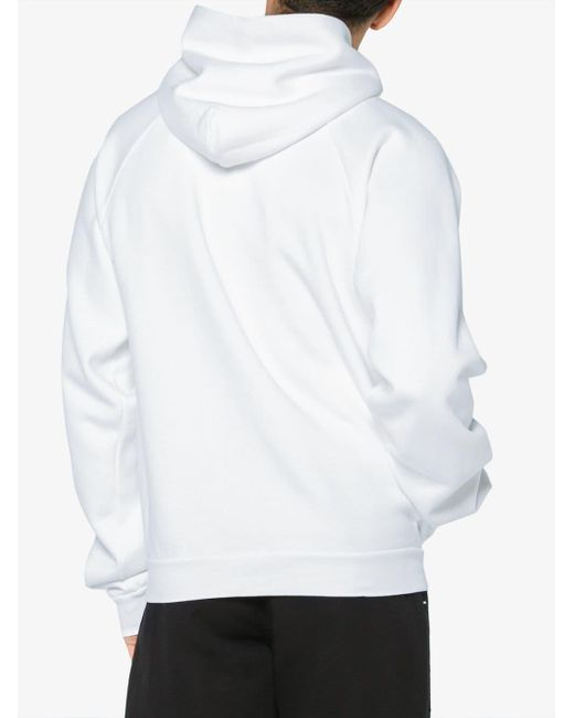 df638425efb Balenciaga Bb Mode Hoodie in White for Men - Save 19% - Lyst