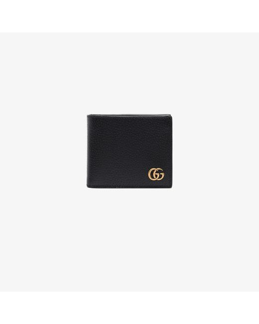 Gucci Black GG Marmont Leather Wallet for men