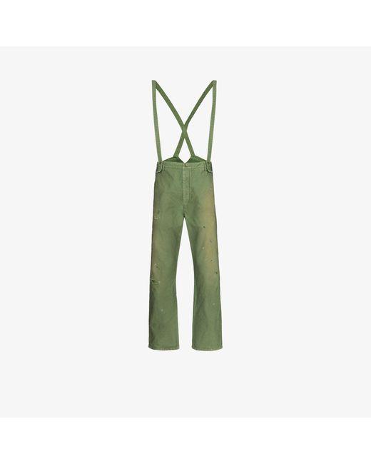 Visvim Green Travailler Braces Trousers for men