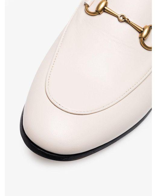 8054c5b456e ... Gucci - White Brixton Loafers - Lyst ...