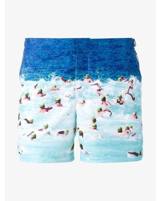 Orlebar Brown - Blue 'setter' Swim Shorts for Men - Lyst