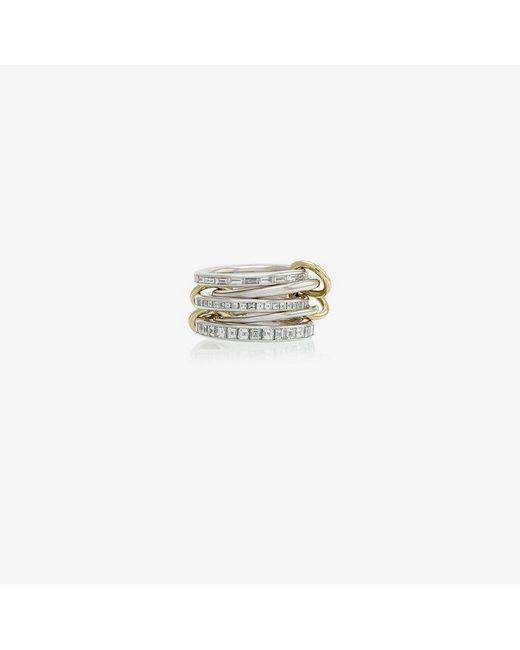 Spinelli Kilcollin Metallic 18k White Yellow Gold Augusta Diamond Ring