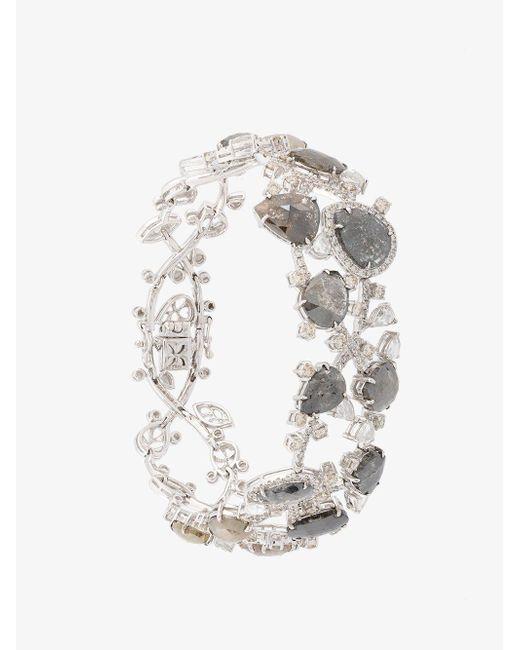 Saqqara - Metallic Diamond Bracelet - Lyst