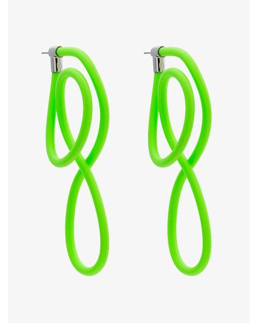 Balenciaga - Neon Green Elastic Magnet Earrings - Lyst