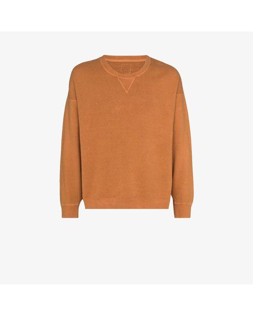 Visvim Orange Jumbo Crew Neck Sweatshirt for men