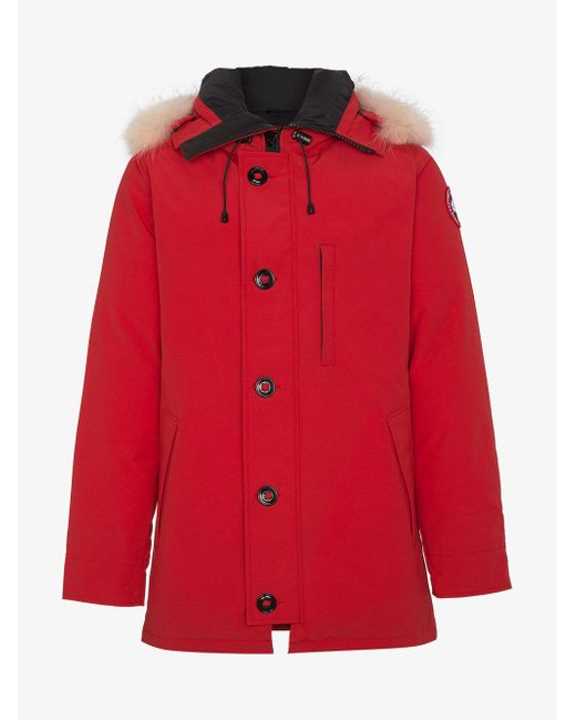 canada goose chateau parka red men's
