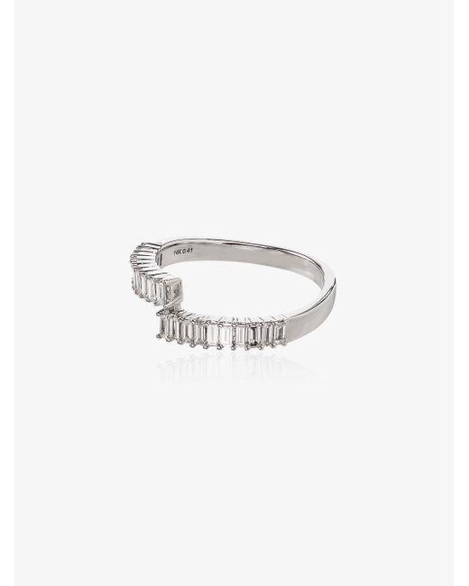 Dana Rebecca Multicolor 14k White Gold Sadie Pearl Split Diamond Ring