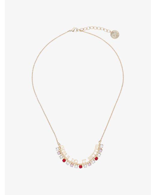 Anton Heunis - Metallic Gold Plated Girls Do It Better Swarovski Crystal Necklace - Lyst