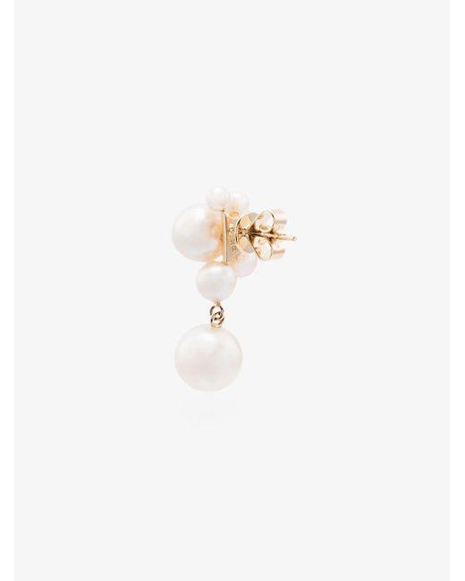 Sophie Bille Brahe White Federico Large Pearl Earrings