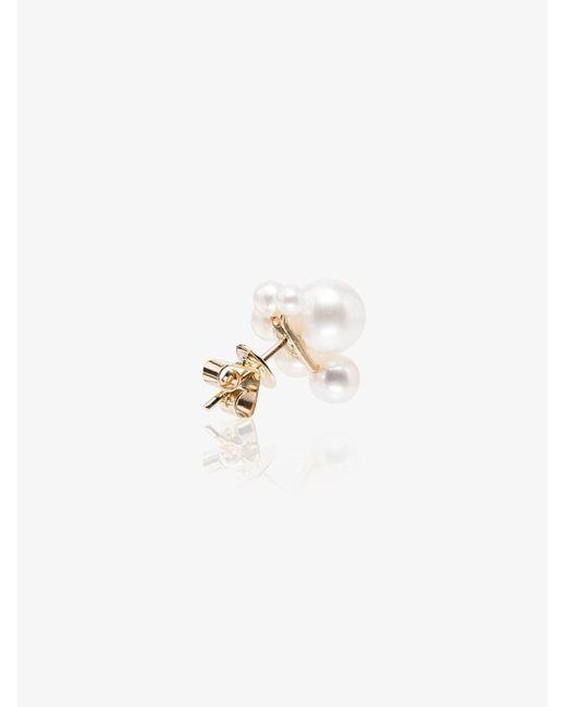 Sophie Bille Brahe White 14kt Gold Federico Pearl Earring
