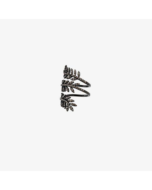 Rosa De La Cruz | Black Ivy Triple Wraparound Ring | Lyst