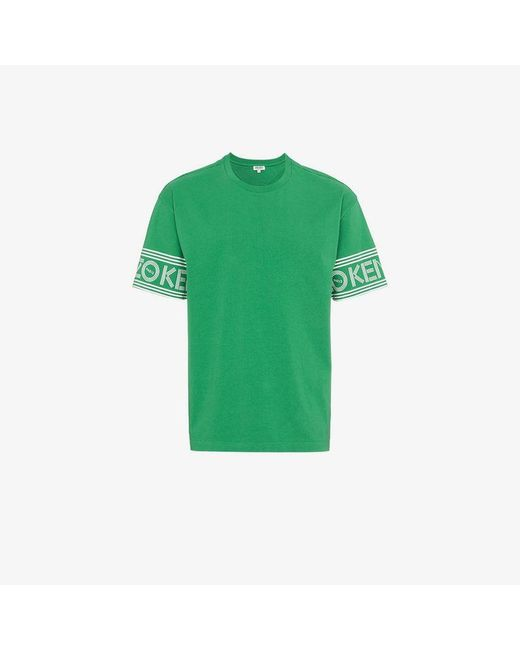 KENZO - Green Logo Sleeve T Shirt for Men - Lyst