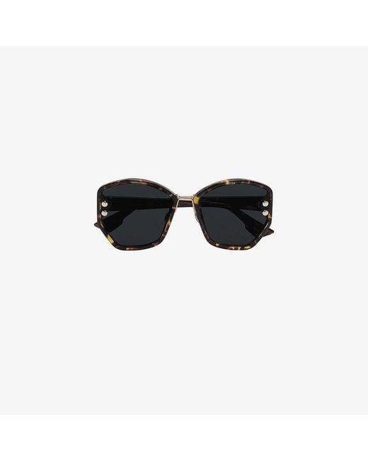 Dior - Brown Addict 2 Tortoiseshell Sunglasses - Lyst
