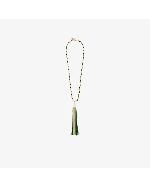 Rosantica - Metallic Corda Necklace With Oversized Tassle Pendant - Lyst