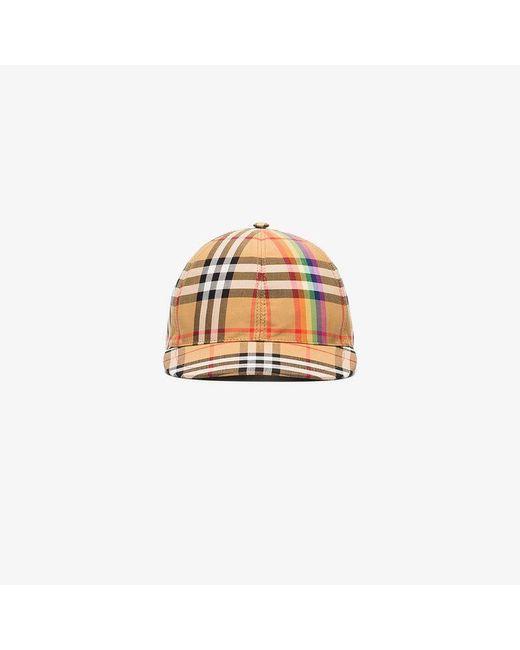 Burberry - Brown Vintage Check Cap - Lyst