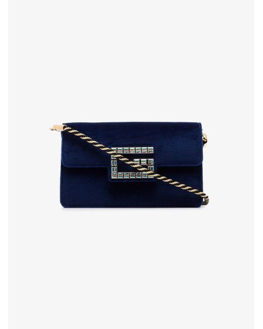 03e89b6883fb Gucci Blue Shoulder Bag With Square G in Blue - Lyst