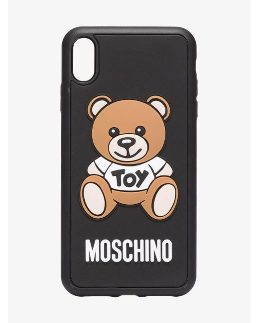 Moschino Black Toy Bear Iphone X Case