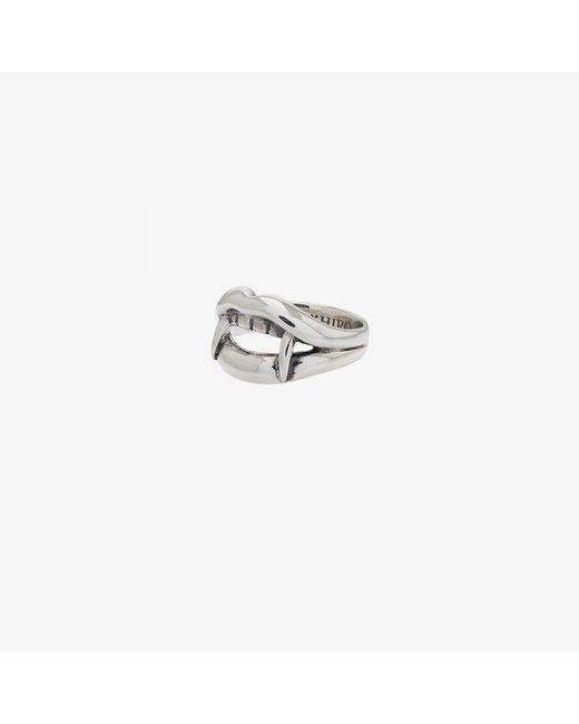 Yohji Yamamoto - Metallic Silver Vampire Engraved Ring for Men - Lyst