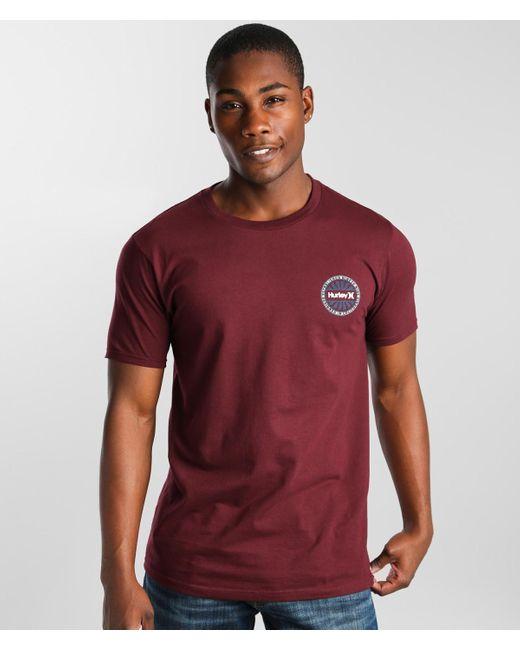 Hurley Red Wheelbite T-shirt for men