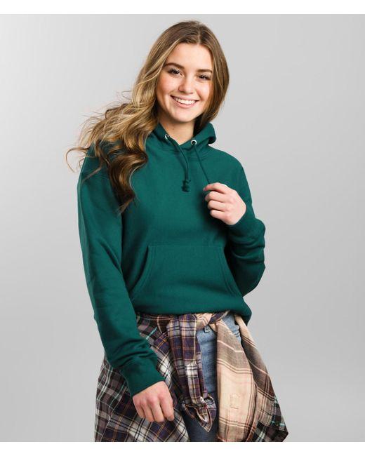Champion Green ® Reverse Weave Hooded Sweatshirt