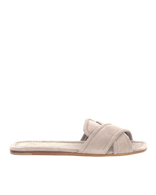 Agl Attilio Giusti Leombruni Natural Sandals D641002 Suede Taupe