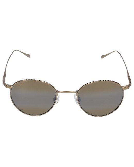 Maui Jim Metallic Sunglasses Round North Star 16m Titan Gold