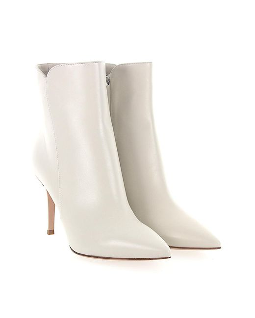 Gianvito Rossi - Gray Boots Levy 85 Nappa Leather Creamy White - Lyst