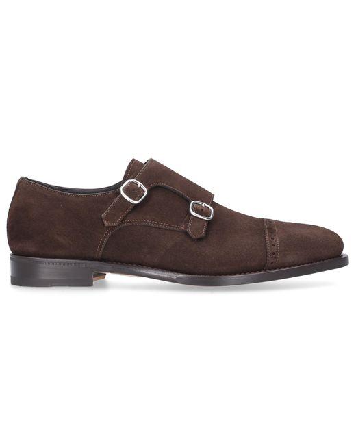 Santoni Brown Monk Shoes for men