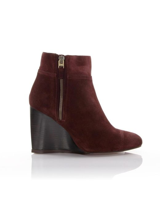 Lanvin Ankle Boots Red