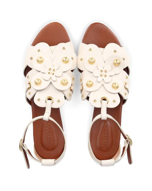See By Chloé Women's White Strappy Sandals Sb34051a