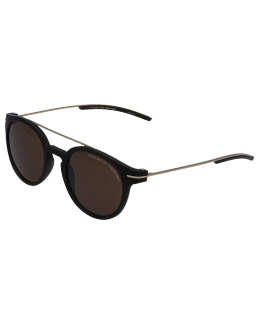 38cbca75093 ... Porsche Design - Metallic Men Sunglasses Clubmaster 8644 Metal Acetate Gold  for Men - Lyst ...