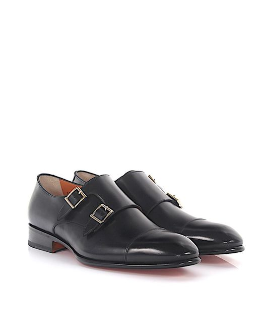 santoni Double-Monk-Strap 15006 leather hand sewn b2Pdy4iigo