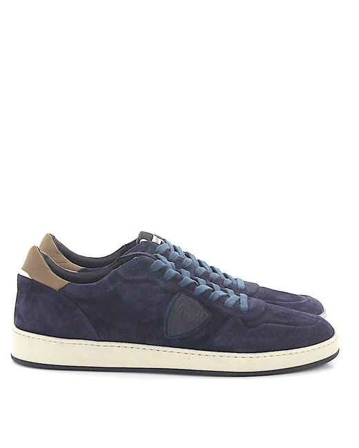 Philippe Model Blue Leather Sneakers for men